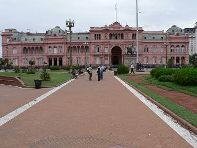 The Pink Palace in Buenos Aries