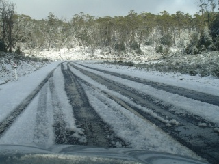 Snow in the Tasmanian High Country