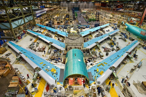Boeing 747 8 Test Planes in Assembly 2